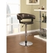 Aarne Brown Adjustable Contemporary Bar Stool