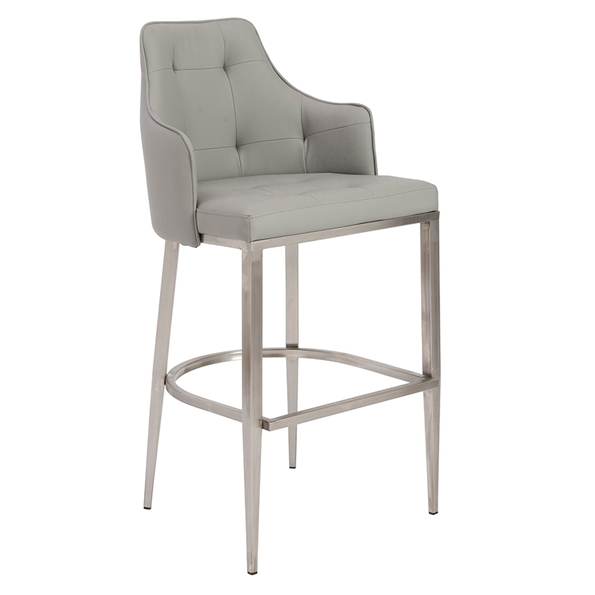 Ava Gray Modern Bar Stool