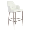 Ava White Modern Bar Stool