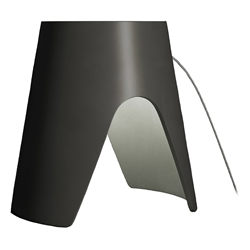 Modloft Black Abbey Modern Table Lamp in Graphite