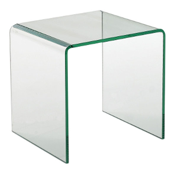 Abbott Modern Clear Bent Glass 18 In. End Table