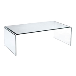 Abbott Modern Clear Glass Cocktail Table