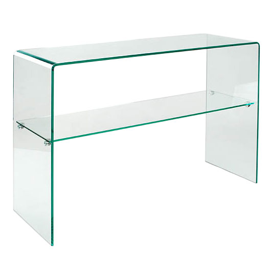 Modern Console Tables   Abbott Solid Glass Console Table W/ Shelf