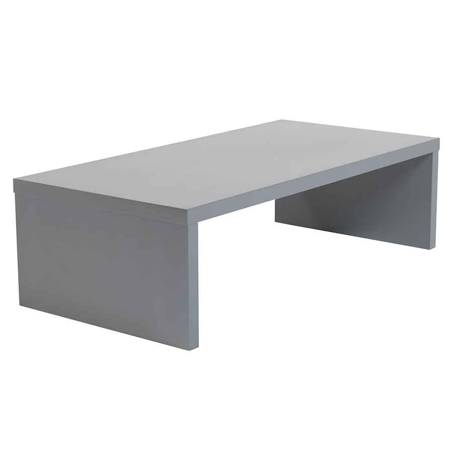 Call To Order Abby Matte Gray Modern Coffee Table