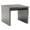 Abby Modern Side Table in Gray