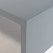 Abby Matte Gray Modern Side Table Detail