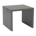 Abby Matte Gray Modern Side Table