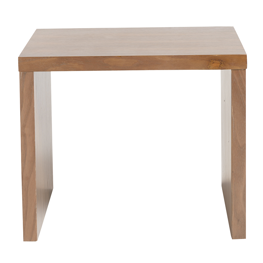 Abby Walnut Contemporary Side Table