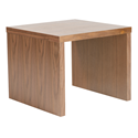 Abby Walnut Modern Side Table