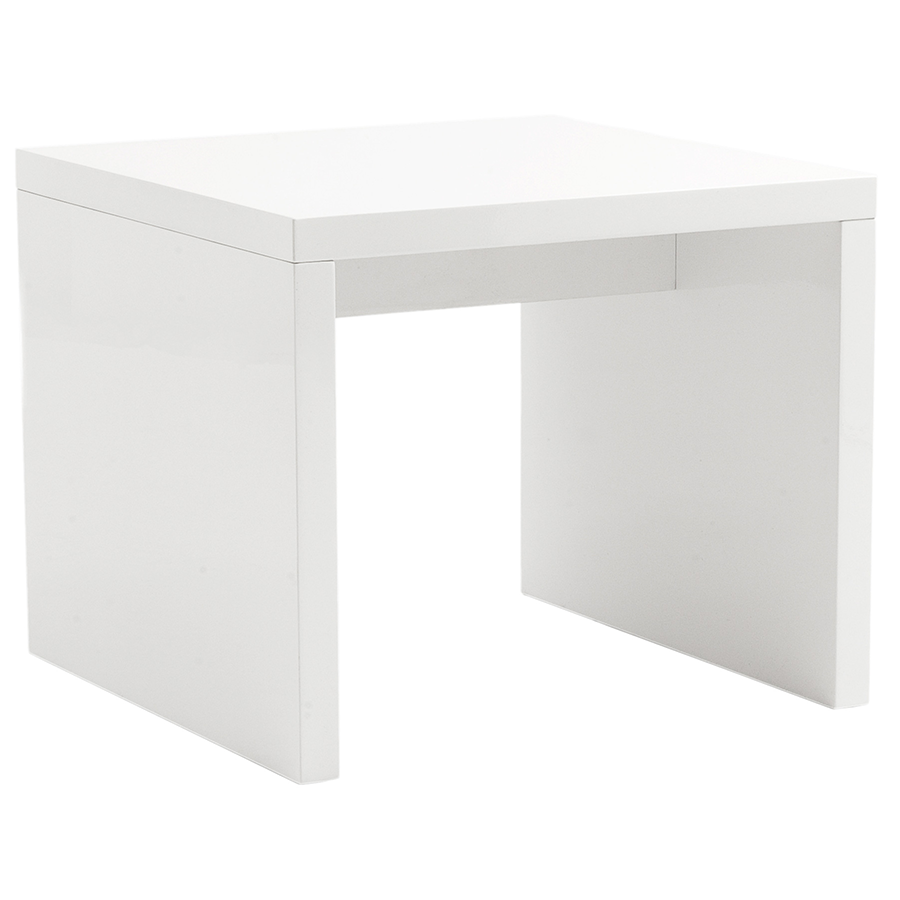 Abby White Contemporary Side Table