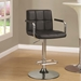 Abel Adjustable Black Contemporary Bar Stool