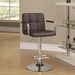 Abel Adjustable Brown Contemporary Bar Stool