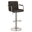 Abel Adjustable Brown Modern Bar Stool