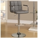 Abel Adjustable Gray Contemporary Bar Stool