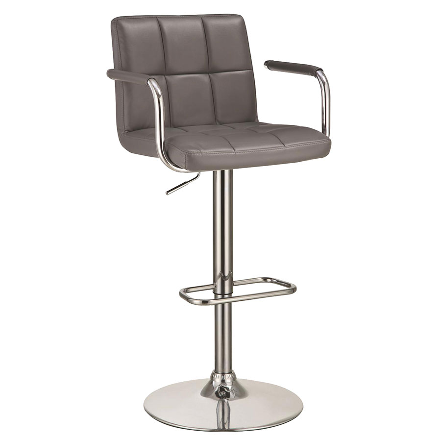 Abel Adjustable Gray Modern Bar Stool