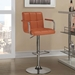 Abel Adjustable Pumpkin Contemporary Bar Stool