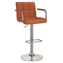 Abel Adjustable Pumpkin Modern Bar Stool