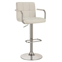 Abel Adjustable White Modern Bar Stool