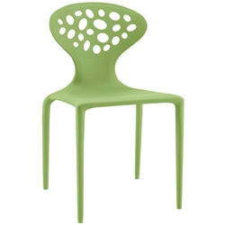 Aberdeen Green Modern Indoor Outdoor Dining Chair