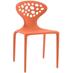 Aberdeen Orange Modern Indoor Outdoor Dining Chair
