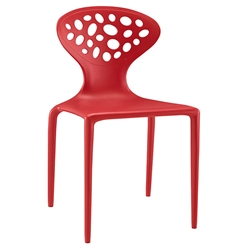 Aberdeen Red Modern Indoor Outdoor Dining Chair