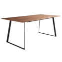 Acadia American Walnut + Black Modern Dining Table
