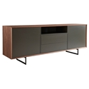 Acadia Modern Walnut + Gray Sideboard