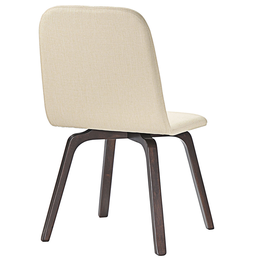 Acclaim Contemporary Beige Dining Chair - Back View