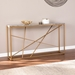 Accord Contemporary Gold + Faux Gray Marble Sofa Table