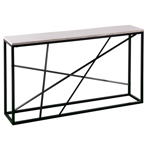 Accord Modern Faux Marble Top Console Table