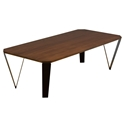 Ace Modern Rectangular Walnut Cocktail Table by Saloom