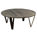 Ace Modern Round Nantucket Cocktail Table by Saloom