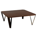 Ace Modern Square Walnut Cocktail Table by Saloom