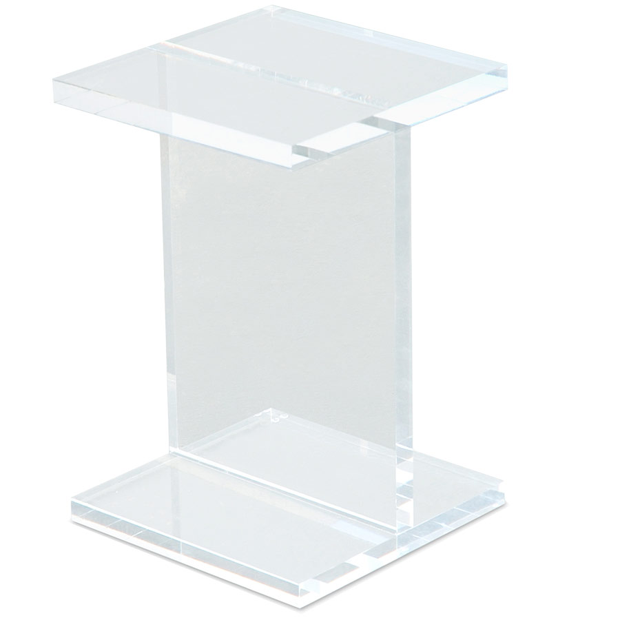 Gus Modern Acrylic I Beam End Table Eurway