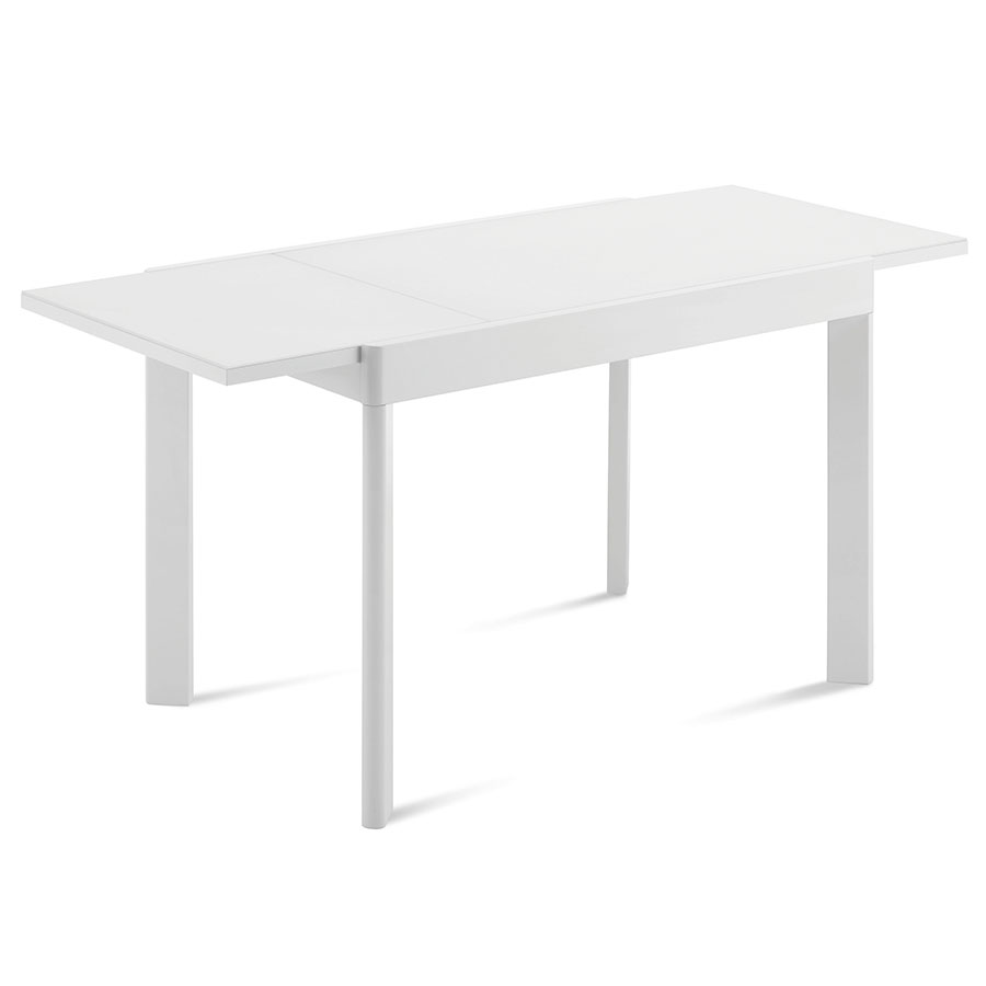 Adair White Modern Extension Table