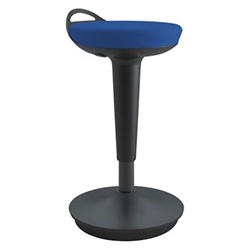 Adana Modern Balance Perch Stool - Blue + Black