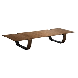 Modloft Black Addington Modern Coffee Table in Walnut