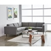 Gus* Modern Adelaide Bi Sectional Sofa in Andorra Pewter Fabric - Room Setting