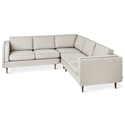 Adelaide Bi-Sectional Contemporary Sofa in Leaside Andorra Fabric by Gus* Modern