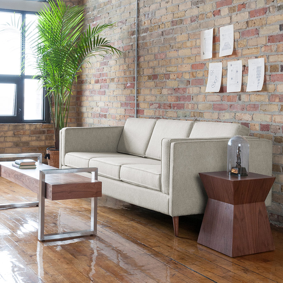Adelaide Modern Sofa In Leaside Driftwood By Gus Modern
