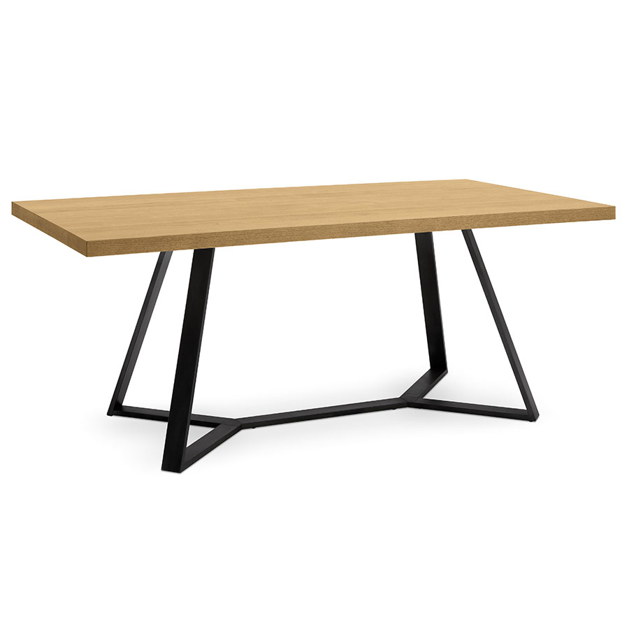 Modern dining tables adena oak dining table eurway for Modern oak dining table