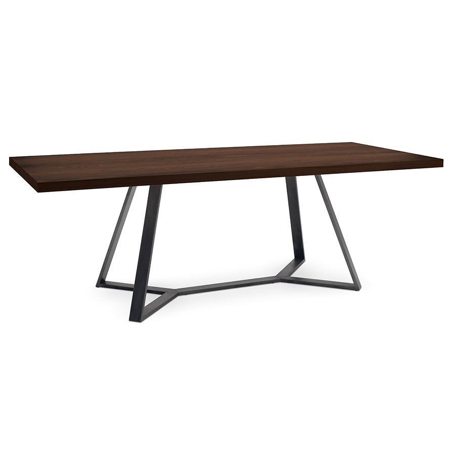 Modern dining tables adena long chc table eurway for Steel dining table design