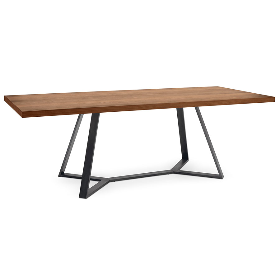 Adena modern long walnut dining table by domitalia eurway for Long contemporary dining tables