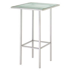 Adino Glass + Metal Modern Bar Table