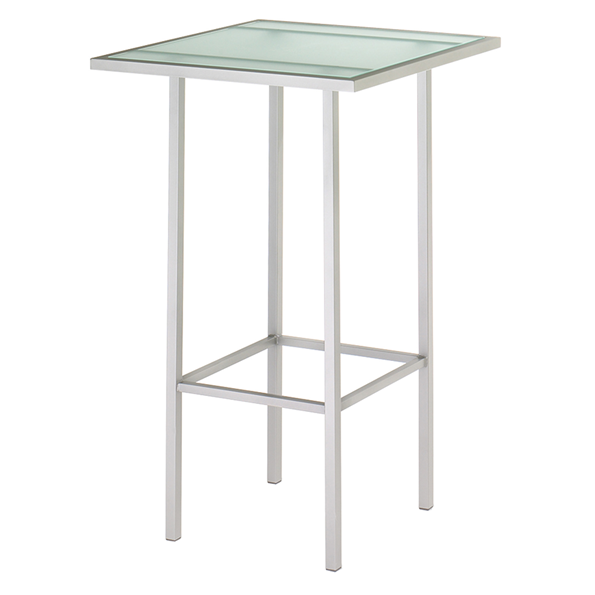 Aden Glass + Metal Modern Bar Table by Amisco