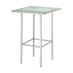 Aden Glass + Metal Modern Counter Table by Amisco