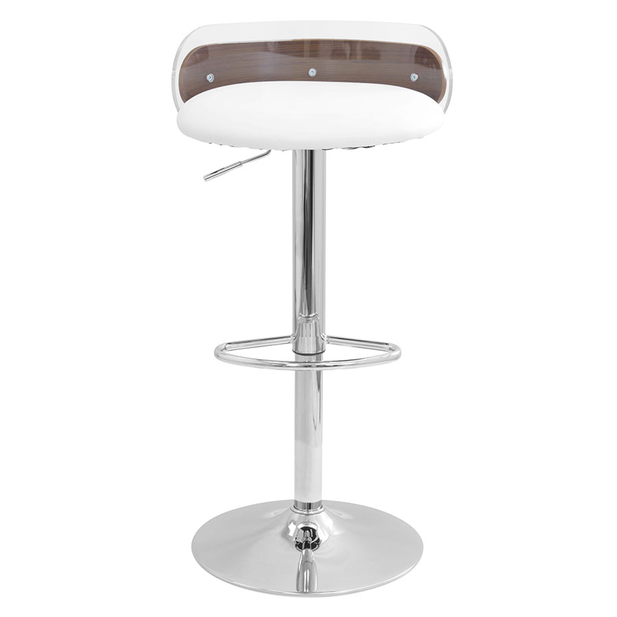 adjorn white leatherette clear acrylic adjustable height stool