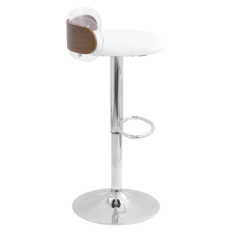 Acrylic Barstool Adjorn Clear Acrylic Walnut Modern Adjustable Stool