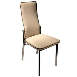 Adriana Modern Reclining Dining Chair in Latte