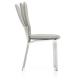 Adriana Modern Reclining Dining Chair in Light Grey